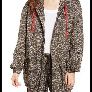 Pam&Gela wind/rain lined leopard jacket